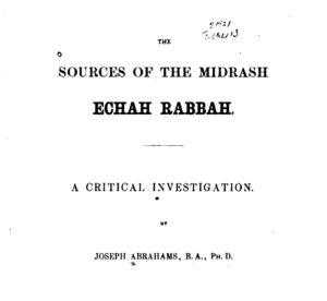 Midrash Echah Rabbah