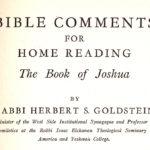 Joshua by Herbert S. Goldstein