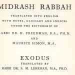 Midrash Rabbah Vol. III  Exodus