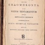 Biblia Polyglotta, Septuaginta Seniorum