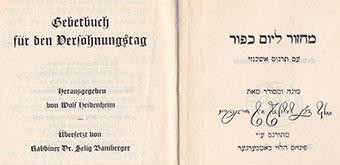 Gebetbuch by Selig Bamberger