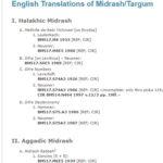 English Translations of Midrash/Targum