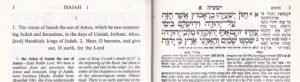 """Chazon"" (Isaiah 1:1) read for the Haftorah"