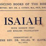 Isaiah  Soncino by I. Slotki