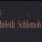 Koheleth Shlomo Frankfurt 1919